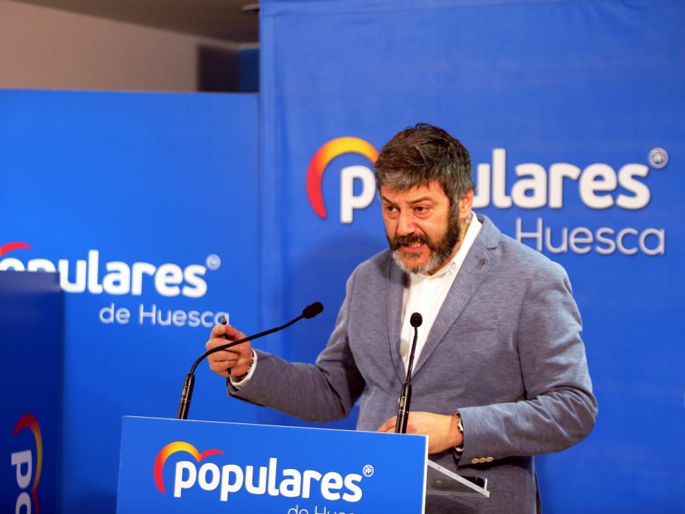 Gerardo Oliván, portavoz del PP en la Diputación de Huesca.    2 - 3 - 20  PABLO SEGURA PARDINA -  [[[DDA FOTOGRAFOS]]]