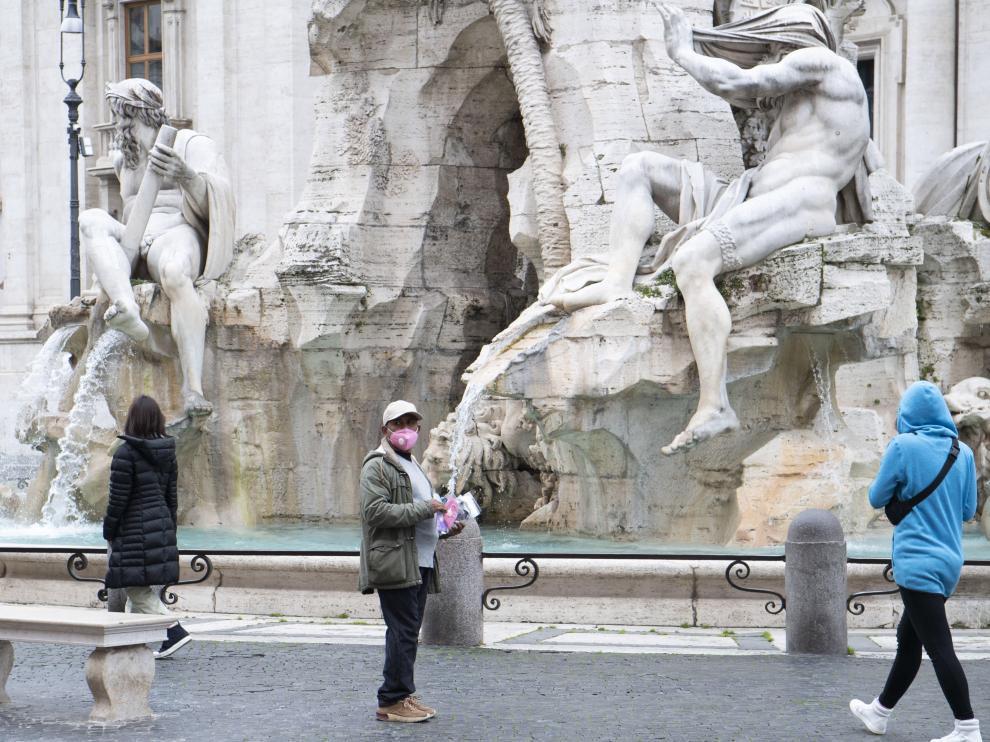 Roma no escapa a la psicosis por el coronavirus