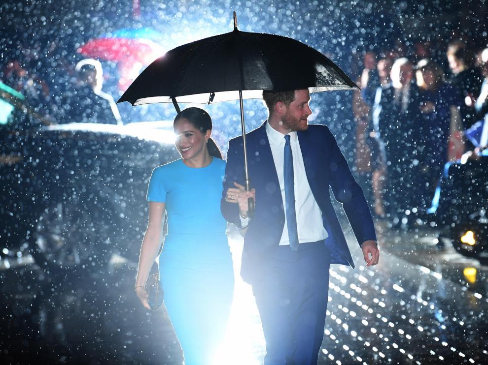 Enrique y Megan, el jueves, en Londres, en una entrega de premios.