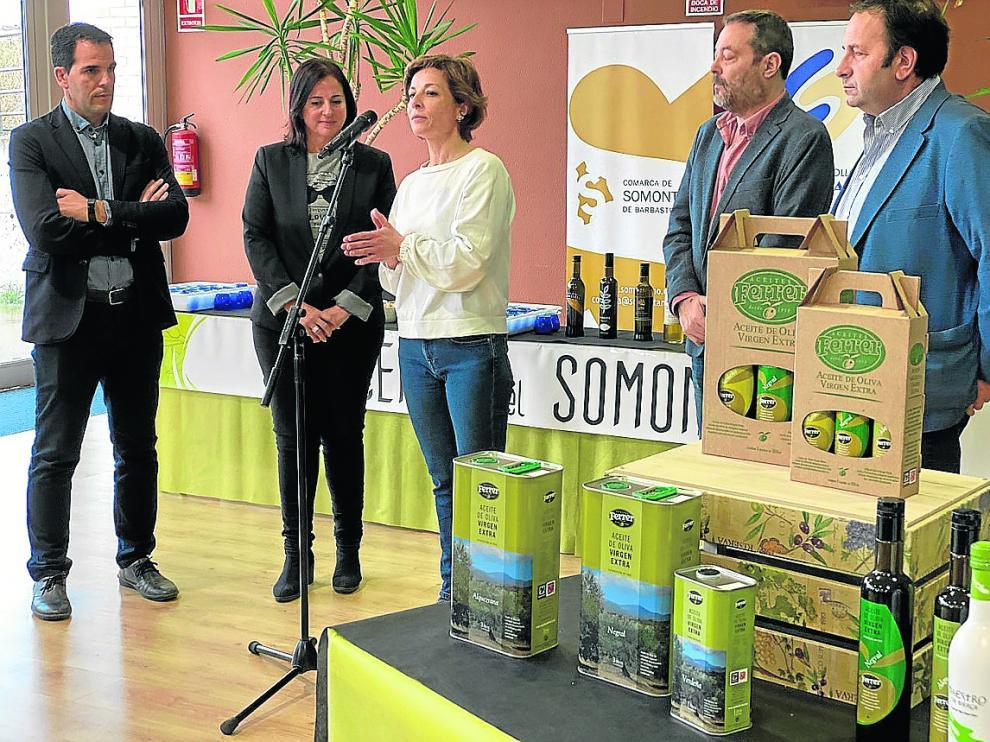 Presentación de los aceites elaborados en la comarca del Somontano.