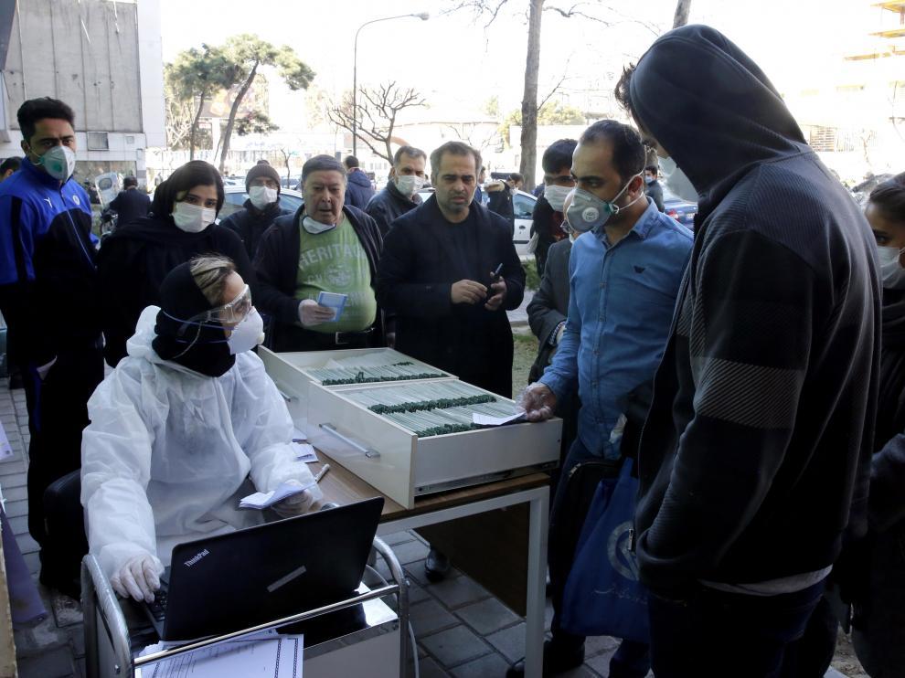 Censo de casos de coronavirus en Teherán.