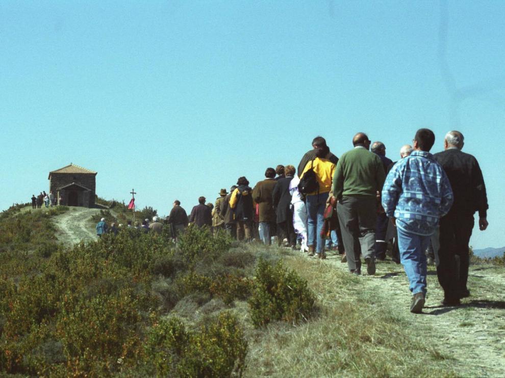 Imagen de archivo de la romería a Orante.