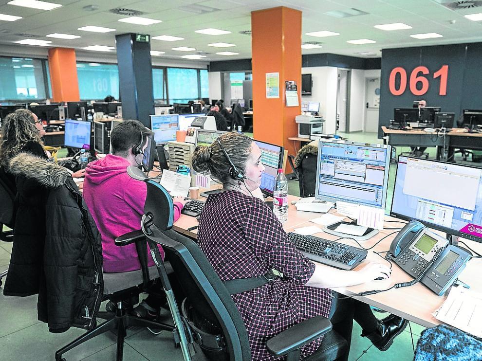 CENTRO DE CONTROL DEL 061 ( ZARAGOZA ) / 10/03/2020 / FOTO : OLIVER DUCH [[[FOTOGRAFOS]]]