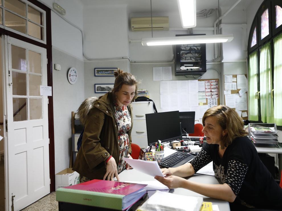 Escolarización en el colegio Gascón y Marín de Zaragoza.