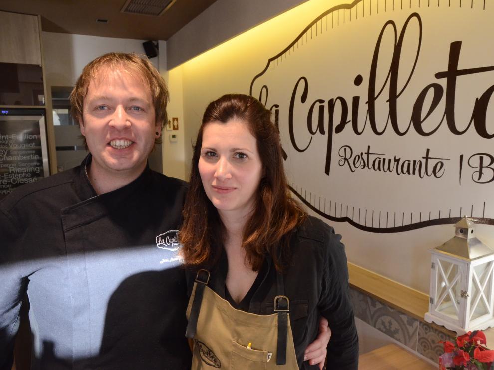 Jessica Prat y José Andrés Ballarín, en La Capilleta, en la localidad de Plan.