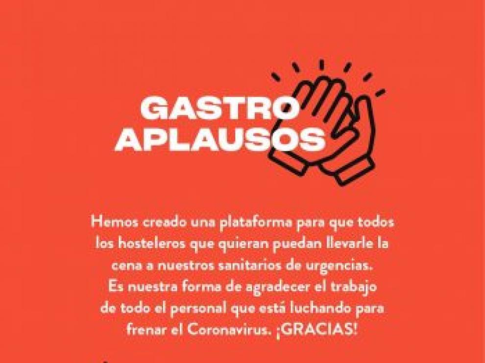 Gastro aplausos, una iniciativa solidaria para luchar contra el coronavirus