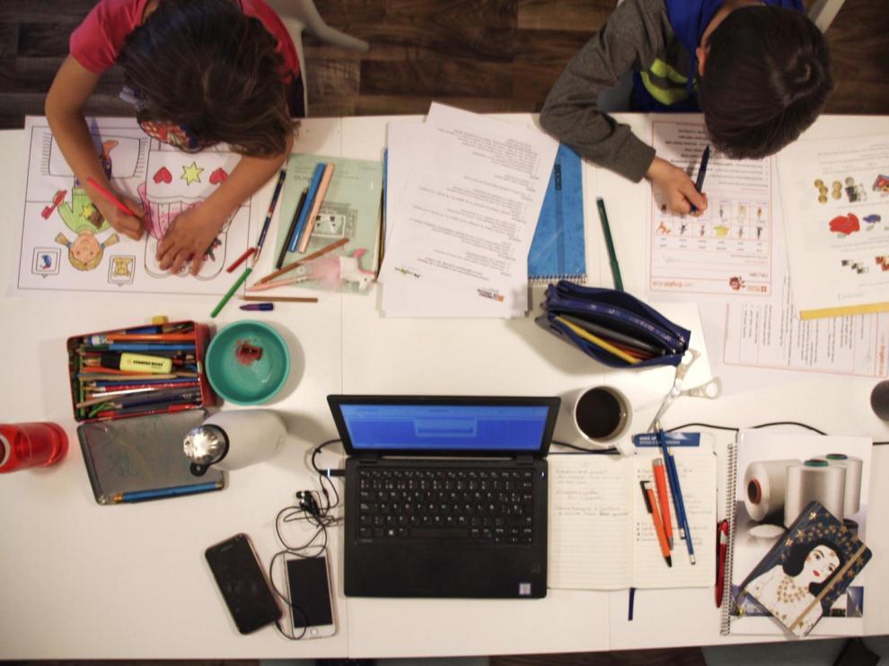 Haciendo los deberes en casa