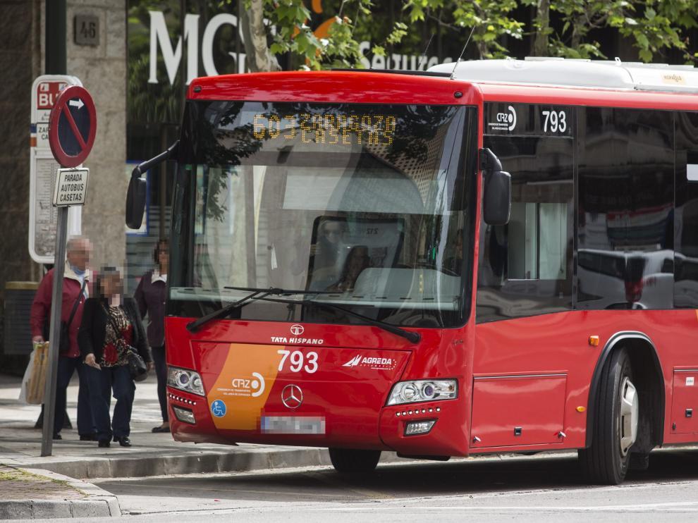 Imagen de archivo de un autobús de la línea Casetas-Zaragoza.