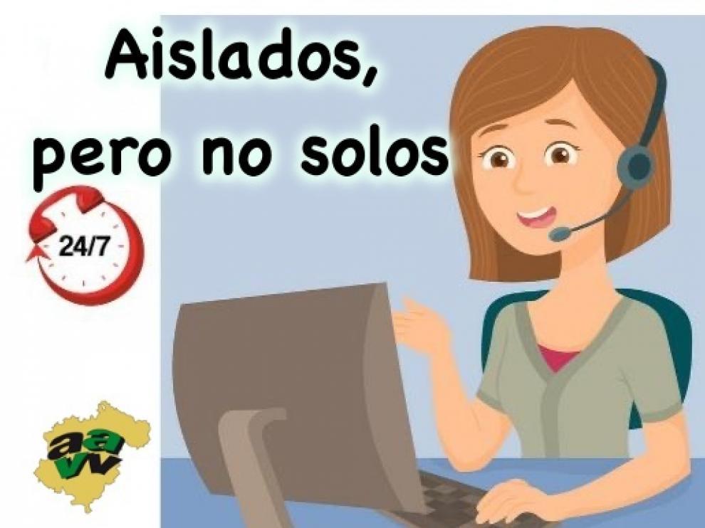 Cartel del Ayuntamiento de Teruel sobre el voluntariado para prevenir el coronavirus entre los ancianos.