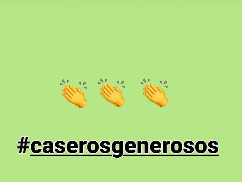 """Cartel de la campaña """"Caseros generosos"""" lanzada por el Centro Comercial Abierto de Teruel."""
