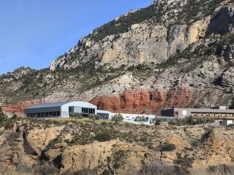 Vista del Balneario de Ariño