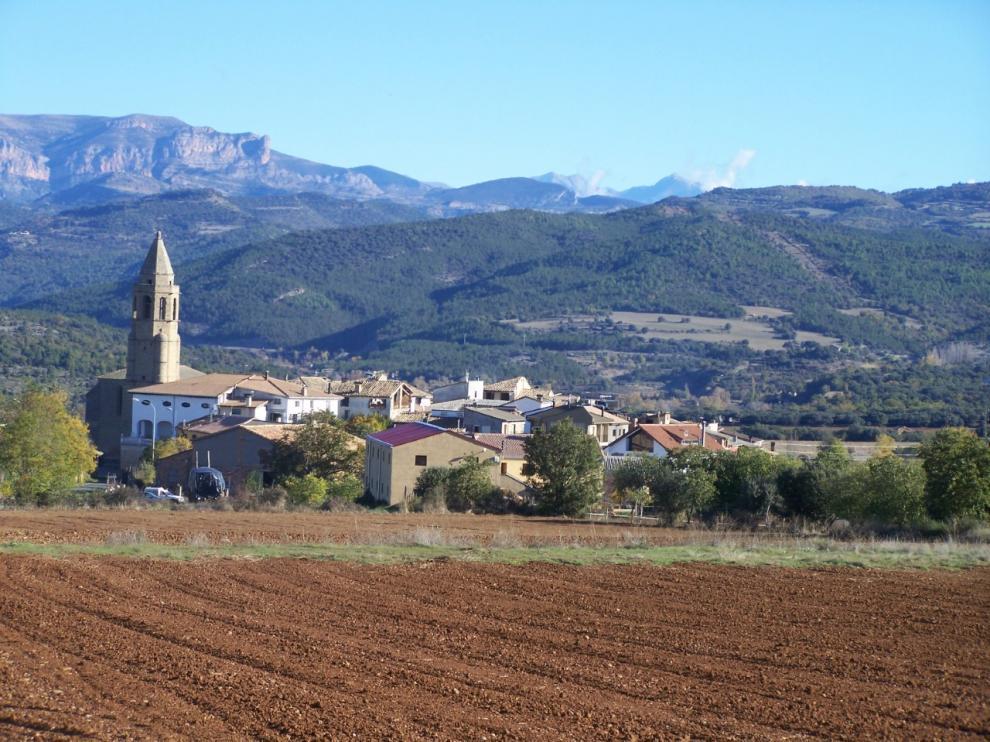Vista del pueblo de Laguarres.