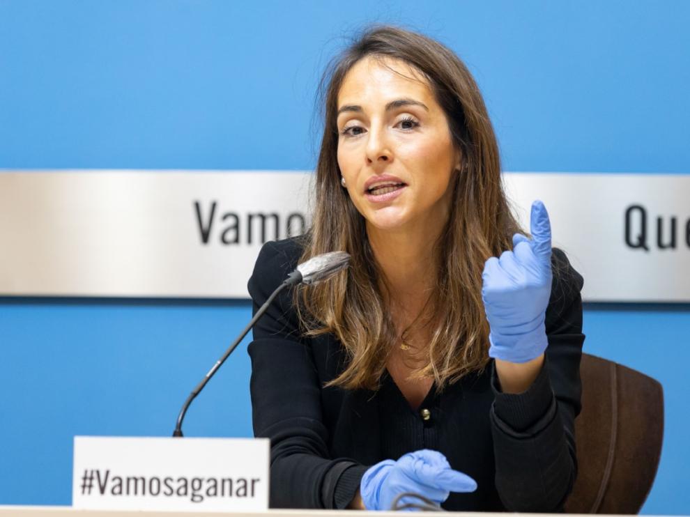 María Navarro en la rueda de prensa de este viernes.