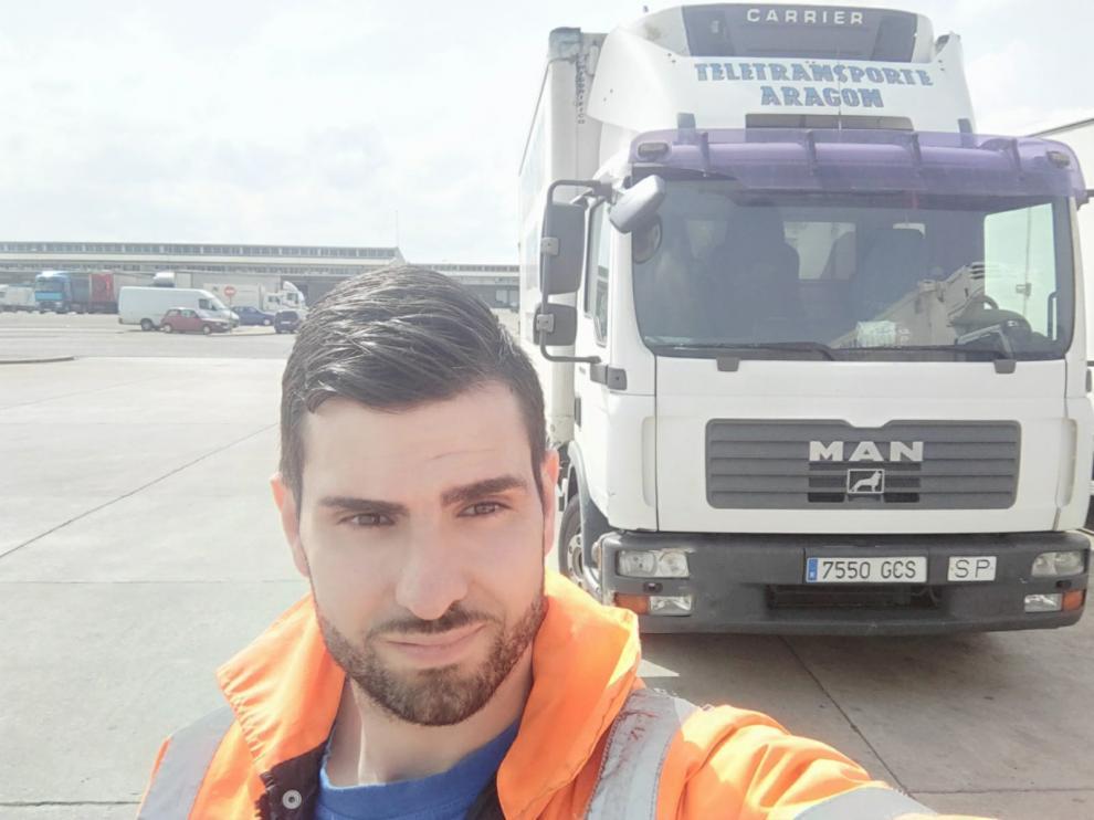 Rodrigo Burillo, transportista que visto aumentar su ritmo de trabajo durante el confinamiento.
