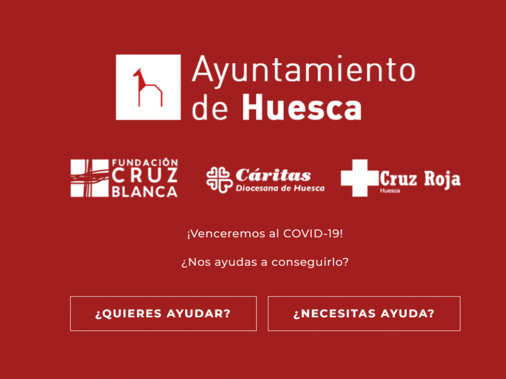 El Ayuntamiento de Huesca lanza una web para ayudar y pedir ayuda durante el estado de alarma.