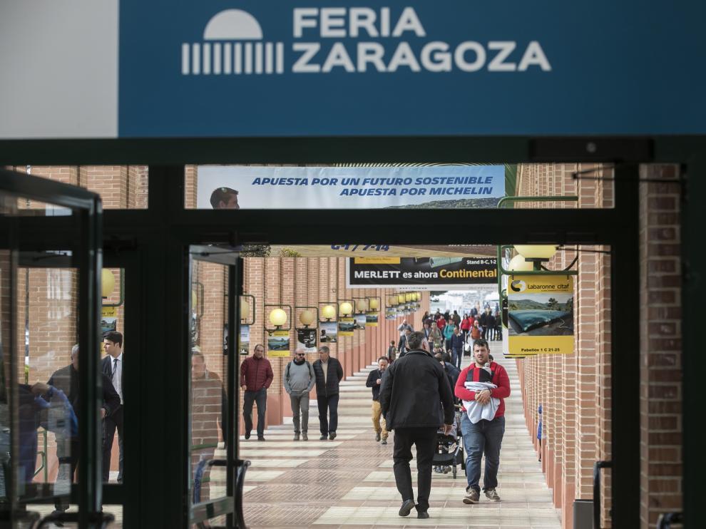 Entrada a las instalaciones de la Feria de Zaragoza.