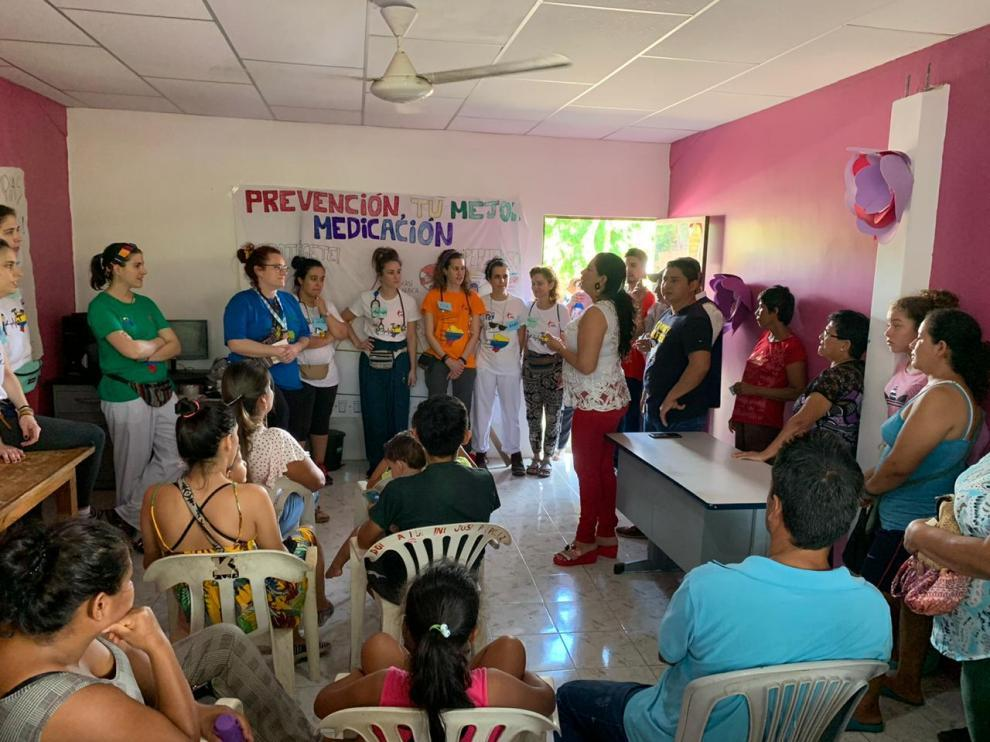 Imagen de la campaña sanitaria desarrollada en Ecuador.