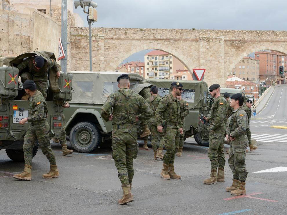 Militares en Teruel