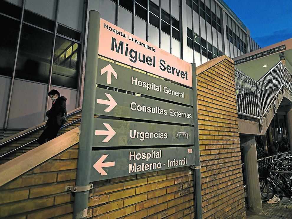 Fachada del hospital Miguel Servet de Zaragoza.