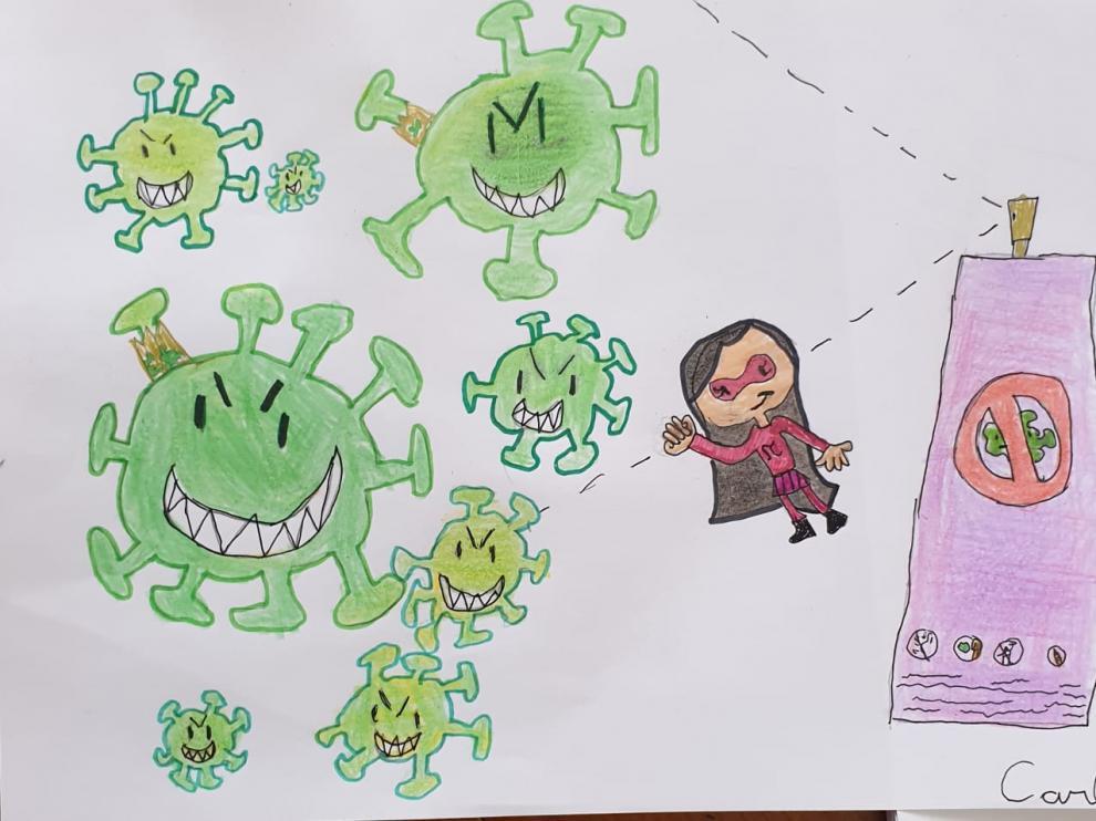 Dibujo de un niño de 2º de primaria del CEIP Joaquín Costa.