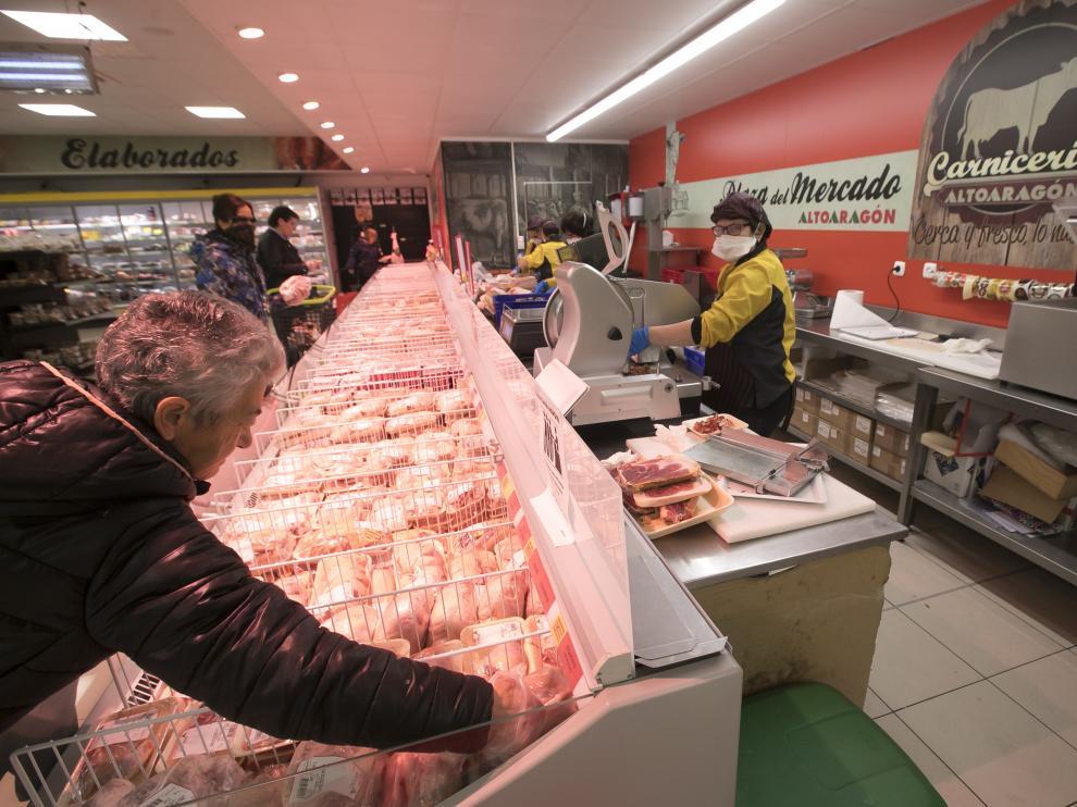 Los Supermercados Altoaragón garantizan el abastecimiento a toda la población.