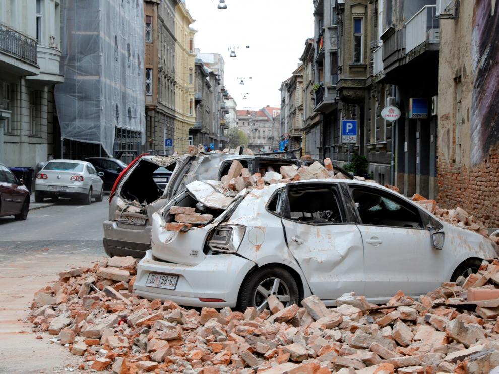 Terremoto en Zagreb, Croacia.