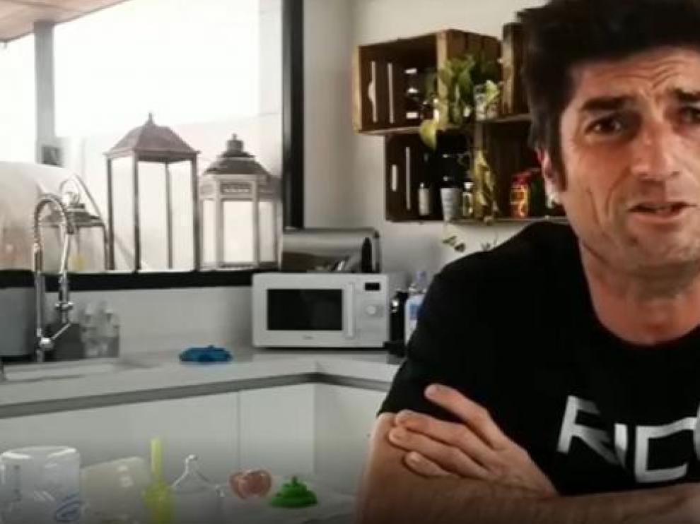 Óscar Haro en el vídeo que ha grabado.