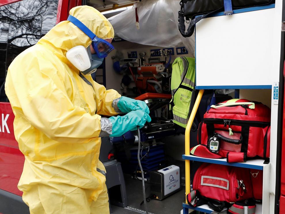 DYA implanta un túnel de desinfección de ambulancias y material sanitario