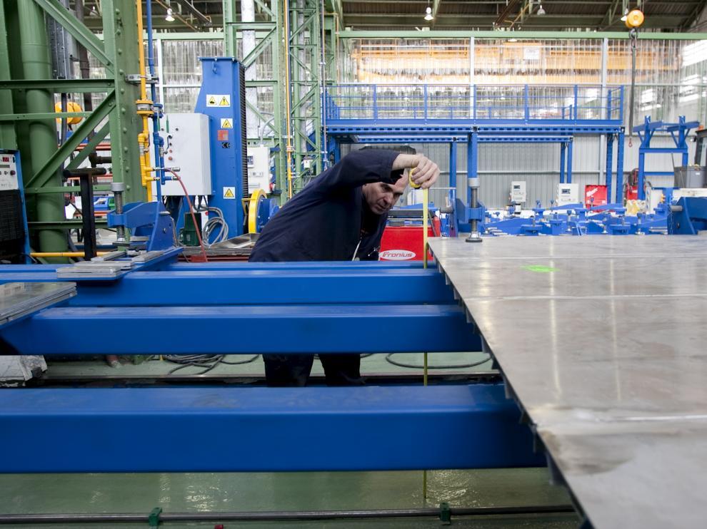 Imagen de archivo de la fábrica de CAF en Zaragoza.