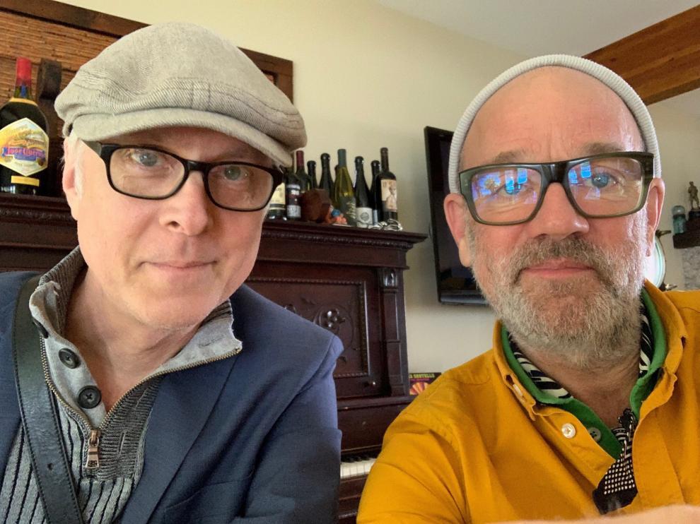 Bill Rieflin y Michael StipeREMHQ25/03/2020 [[[EP]]] Bill Rieflin y Michael Stipe