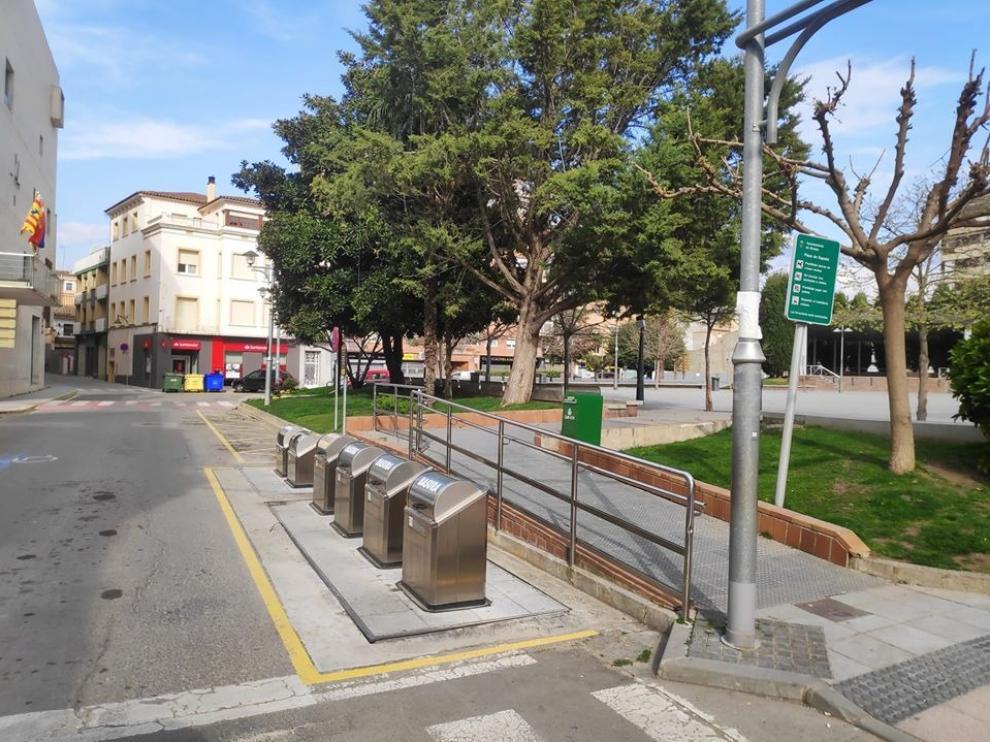 Un parque de la localidad de Binéfar