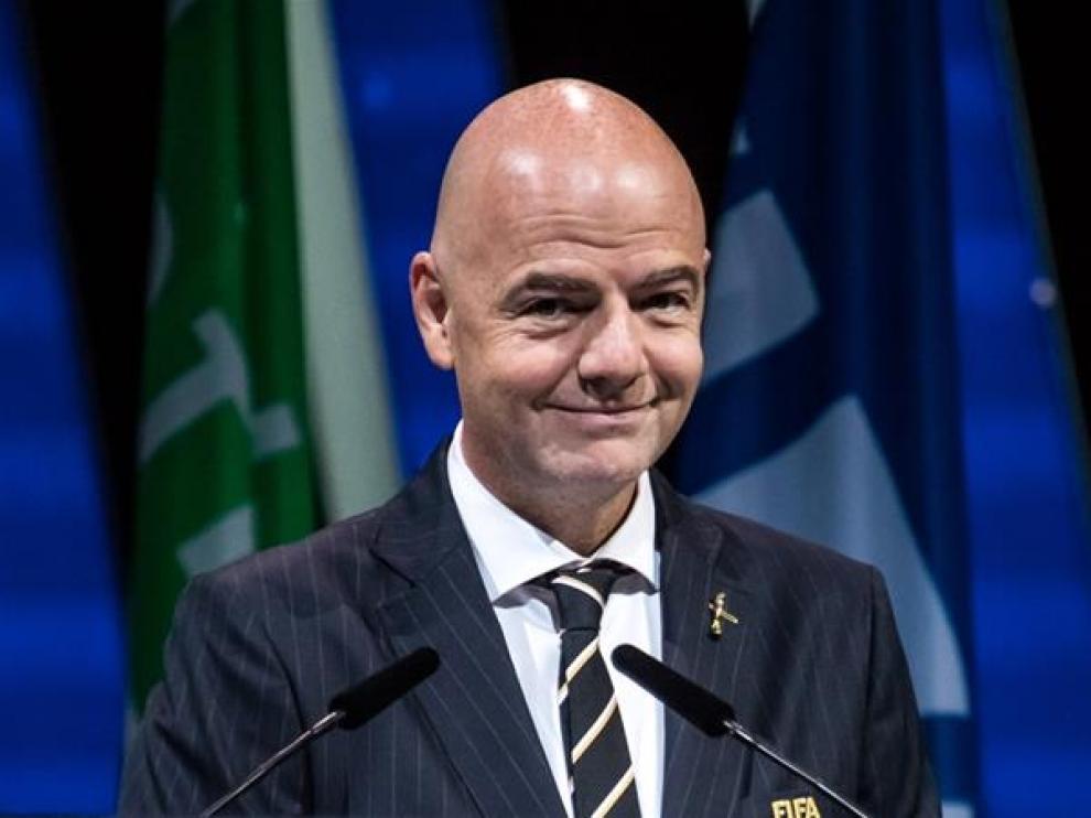 Gianni Infantino, abogado italo-suizo, presidente de la FIFA, máximo organismo mundial del fútbol.