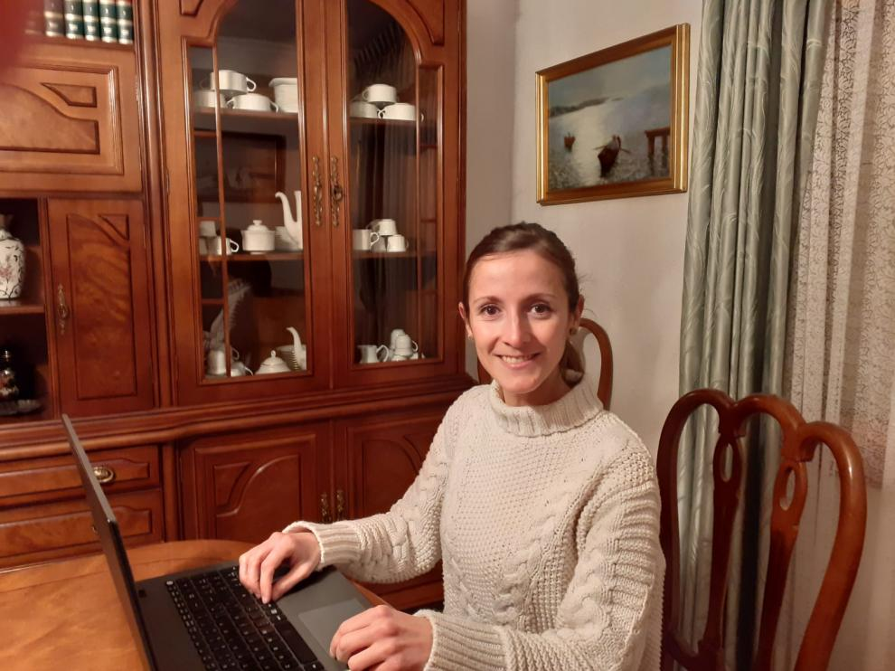 Adela Báguena, natural de Longares e impulsora del proyecto, en su domicilio.