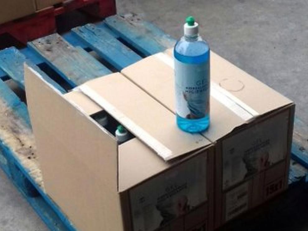 Falsos geles desinfectantes requisados por los Mossos en Rubí