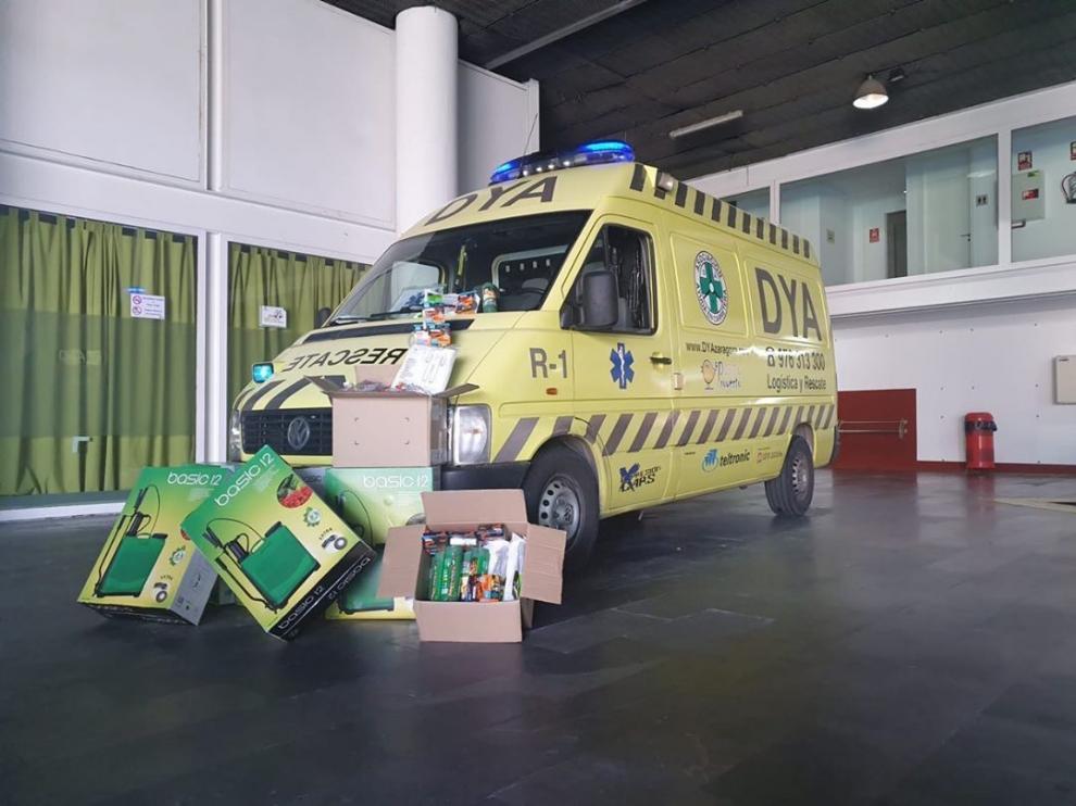 El centro comercial intu Puerto Venecia ha hecho una donación a la Asociación de Ayuda en Carretera DYA en Zaragoza