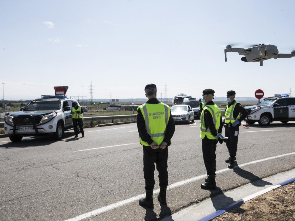 Controles de la Guardia Civil en Aragón