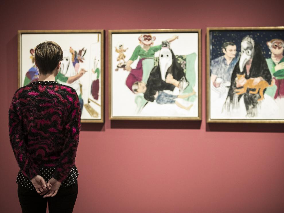 Vista de la exposición de Paula Rego en el Museo Goya de la Fundación Ibercaja