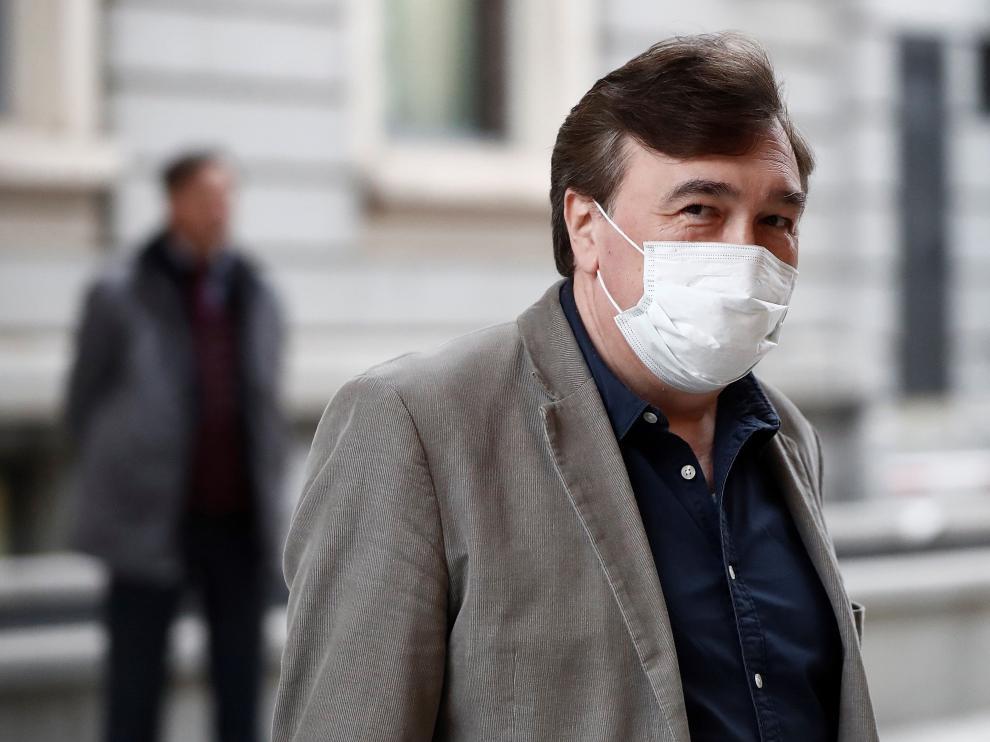 Tomás Guitarte, con una mascarilla durante el estado de alarma.