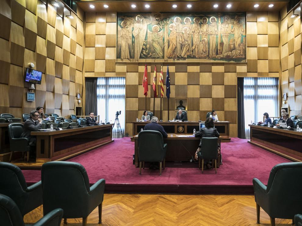 Pleno extraordinario del Ayuntamiento de Zaragoza