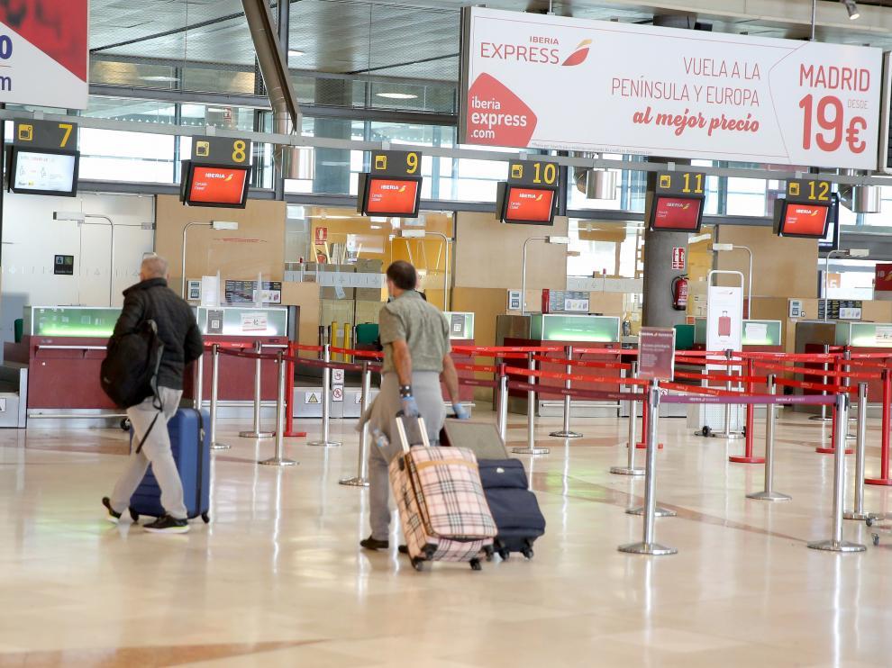Aeropuerto Tenerife Norte en Canarias.