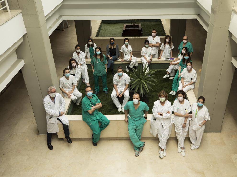 Miembros de los proyectos IIS Aragón, en el Hospital Clínico Universitario Lozano Blesa de Zaragoza