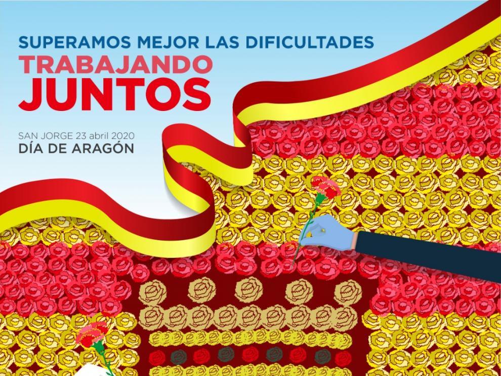 Cartel de San Jorge del Ayuntamiento de Teruel.