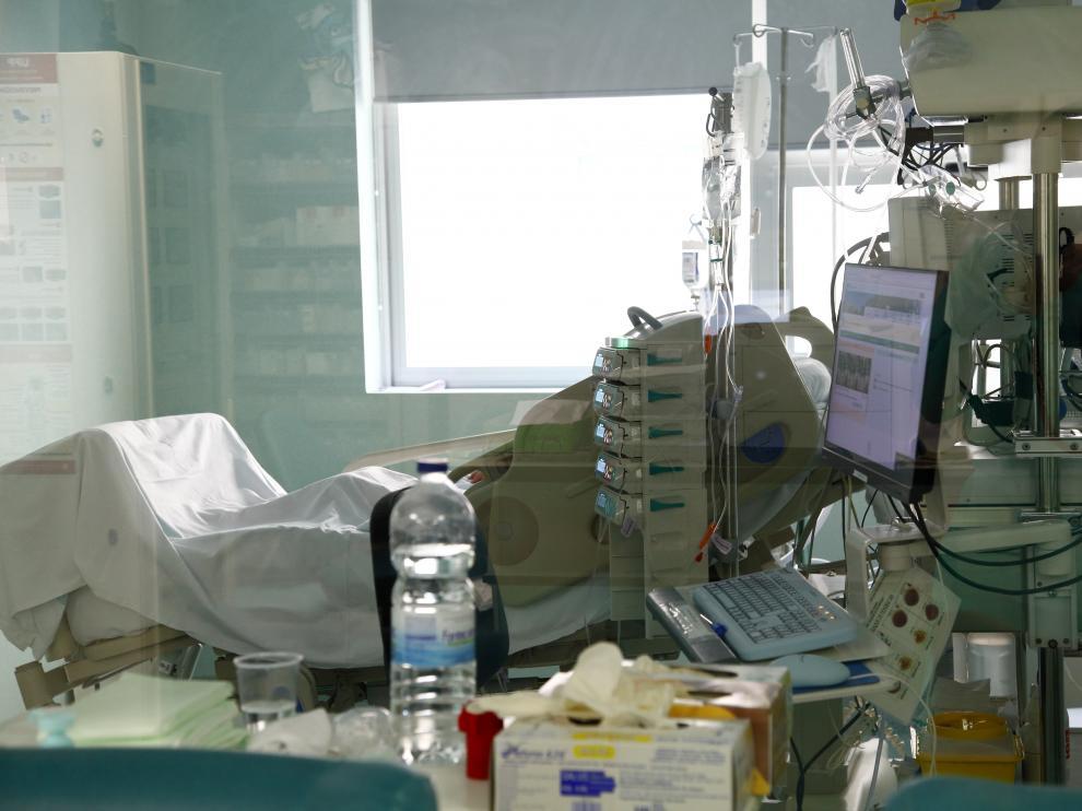 Interior del Hospital Miguel Servet de Zaragoza.