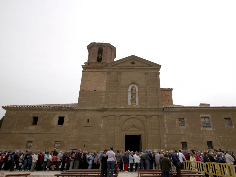 Celebración de la romería de Loreto, en Huesca.
