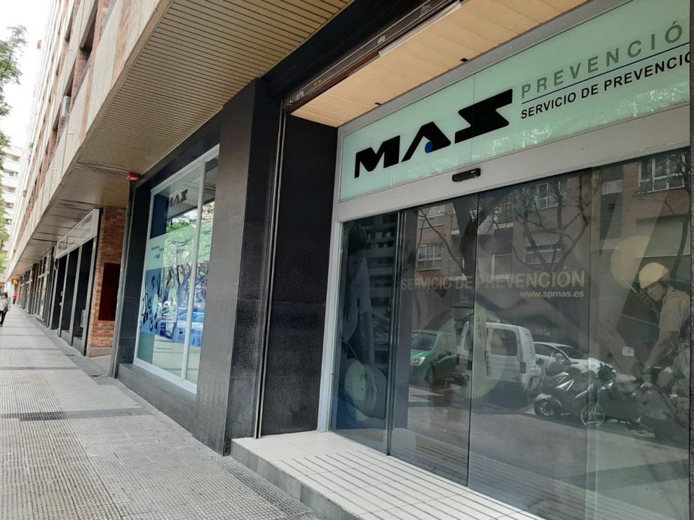 Las oficinas centrales de Mas Prevención en la calle de Monasterio de Samos 31-33, de Zaragoza..