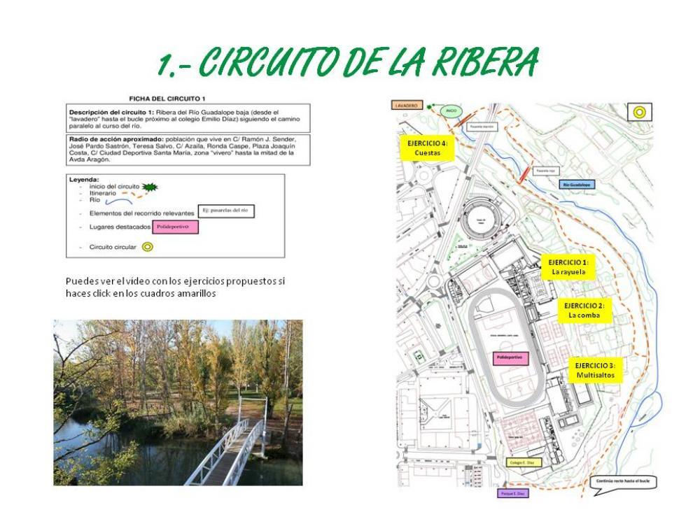 Una de las propuestas transcurre por la ribera del río Guadalope. Ayuntamiento Alcañiz