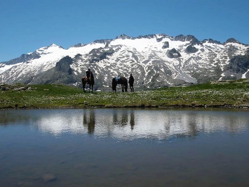 Uno de los paisajes naturales del Valle de Benasque.