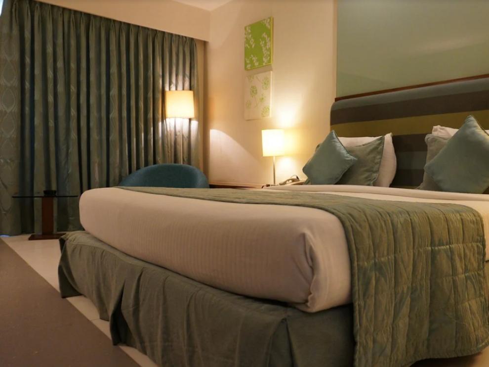 Imagen de archivo de una habitación de hotel.
