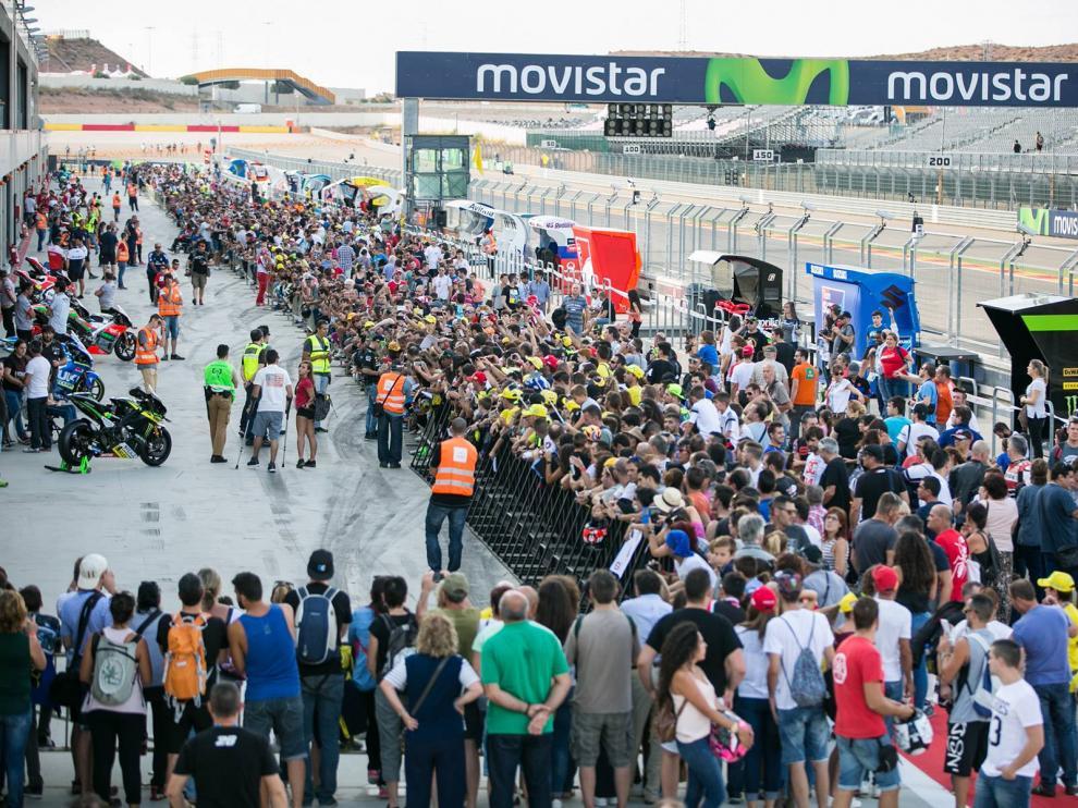 Imagen del circuito aragonés de Motorland Aragón, en Alcañiz (Teruel), en la última prueba del Mundial disputada el curso pasado.