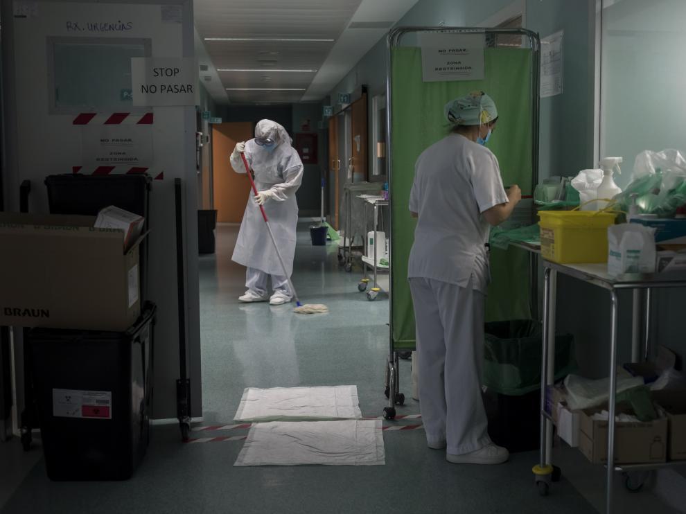 El hospital Miguel Servet empieza el retorno a la nueva normalidad.